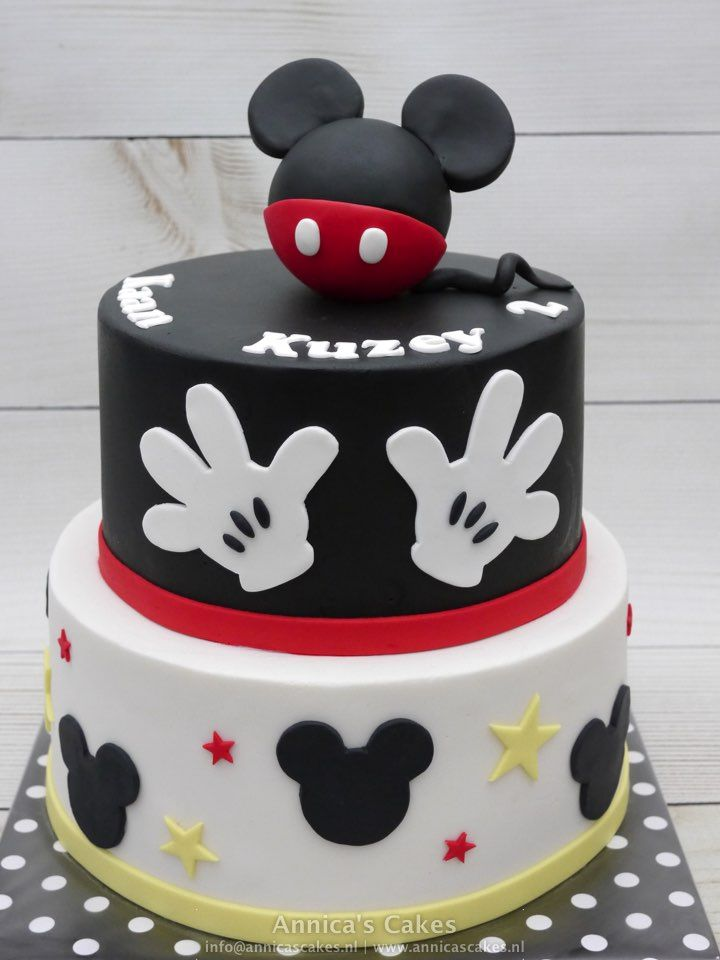 Mickey mouse cake MIckey mouse taart