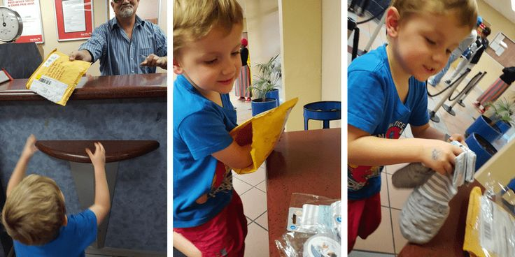 My son excitedly receiving his Handsocks in the mail. We love Handsocks! Here's why...