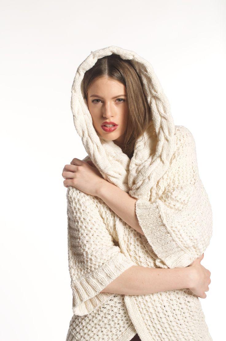 So luxury...so cozy! Very chic hand knit cardigan ANNA made from 100% Italian Merino Wool