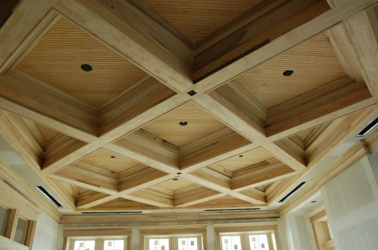 Coffered ceiling with amazing detail the hill place for Foam coffered ceiling