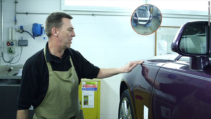 If you've ever seen the super-straight pinstripe down a Rolls-Royce, you've seen the handiwork of this guy. His only job is to hand-paint the pinstripes on Rolls-Royces.
