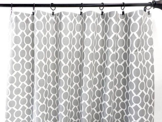 Gray Curtains. Sydney Ash gray. 2 Panel Curtains. Drapes. Window Treatment. Cotton.unlined.Designers. Choose size