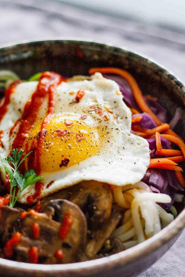 Vegetarian Spicy Korean Bibimbap Bowls!