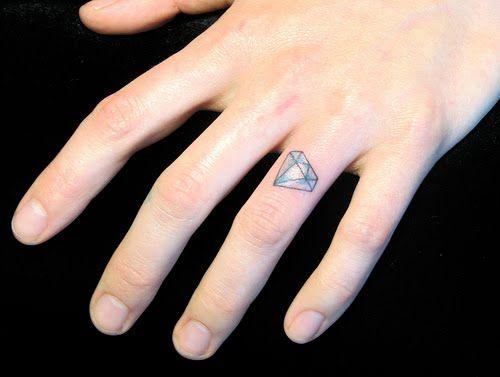 Wedding Ring Rash Tattoo Ideas Wedding Ring Diamonds Tattoo Fingers Tattoo Rings