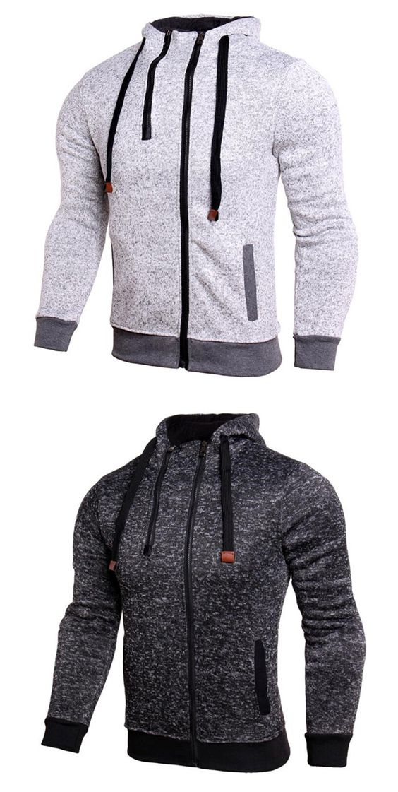 Daily Sports Casual Active Street Chic Color Block Micro Elastic Cotton Long Sleeve Jacket