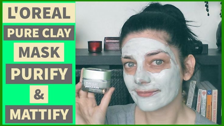 L'OREAL PURE CLAY FACE MASK REVIEW & DEMO | PURIFY & MATTIFY SKINCARE 2017