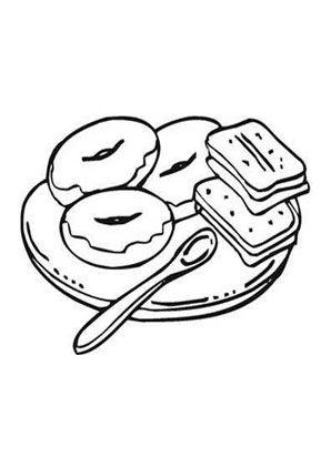 Ausmalbild Frühstück mit Bagles zum kostenlosen Ausdrucken ...