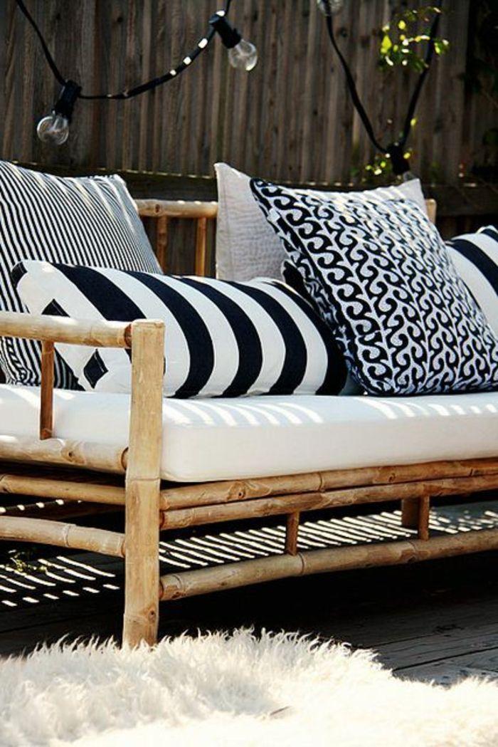 17 meilleures id es propos de meubles en bambou sur pinterest bambou table de bambou et - Matelas pour banquette jardin ...