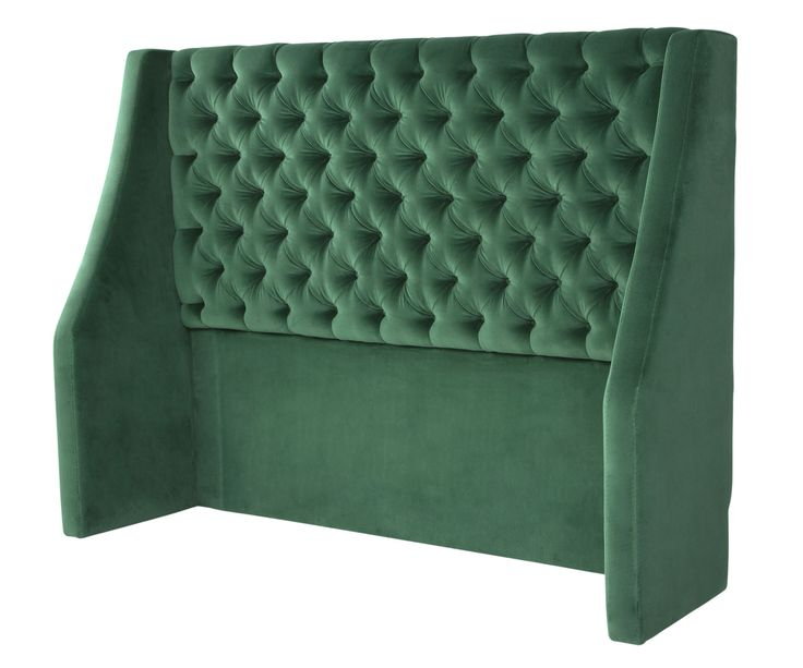 Opulent and unique, the deep buttoned Elgar headboard can infuse an element of luxury into any style of bedroom interior. Elgar sits beautifully at the head of most beds including those from our collection. Available in a range of heights and sizes such as the emerald green pictured here.