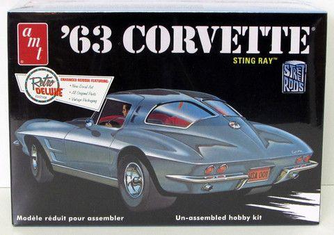 1963 chevy corvette split window coupe street rod amt 861 for 1963 corvette split window model car