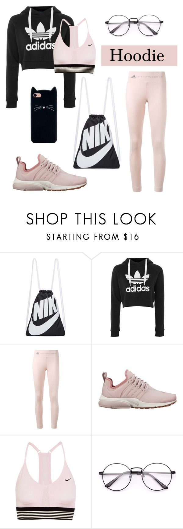 """Hoodie: sporty"" by sofiafashionista ❤ liked on Polyvore featuring NIKE, adidas and Hoodies"
