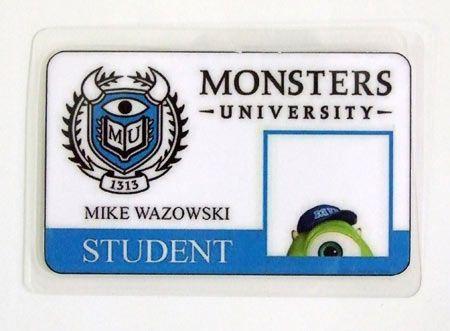 Carnet de estudiante Monstruos S.A. Monsters University. Mike