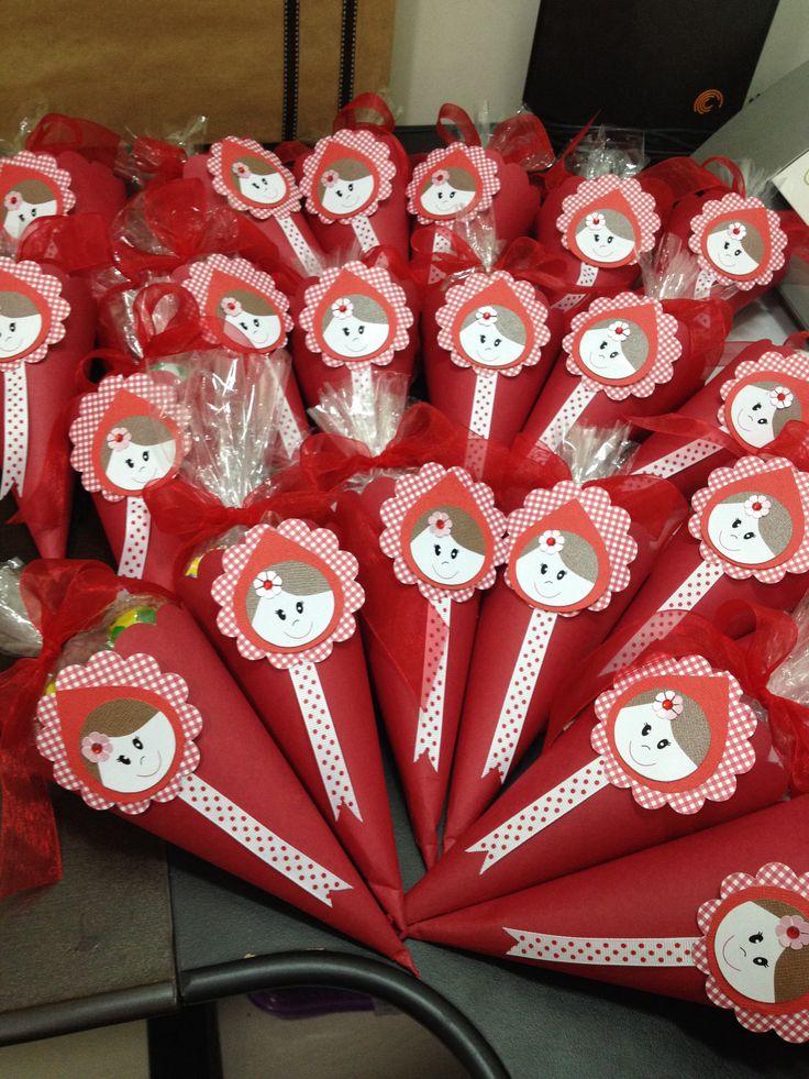 Cones Chapeuzinho Vermelho. #littleredridinghoodparty