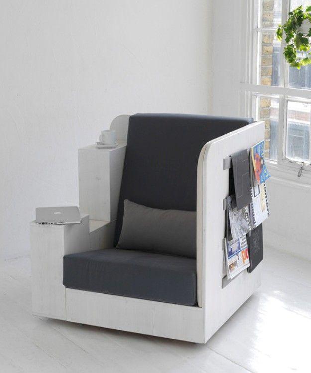 Bookshelf Chair Provides A Comfortable Reading Nook [Pics]