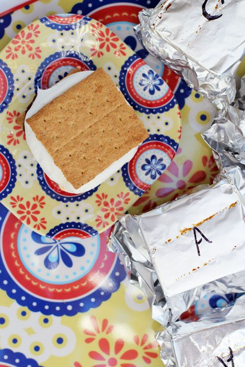 s'morritos aka s'mores on the grill by @janemaynard - a great way to serve s'mores at a party!