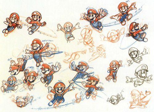 Concept art for Super Mario Galaxy.