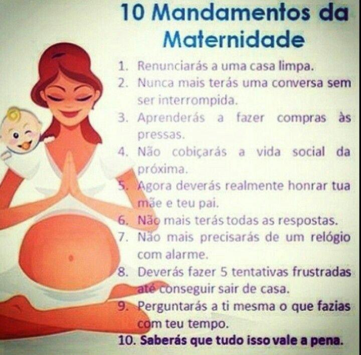 10 Mandamentos da Maternidade