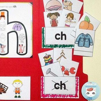 Le Son CH en français | French Phonics Lapbook: interactive paper activities for your French students #consciencephonologique #frenchTpT #frenchimmersion #corefrench #frenchphonics #forfrenchimmersion