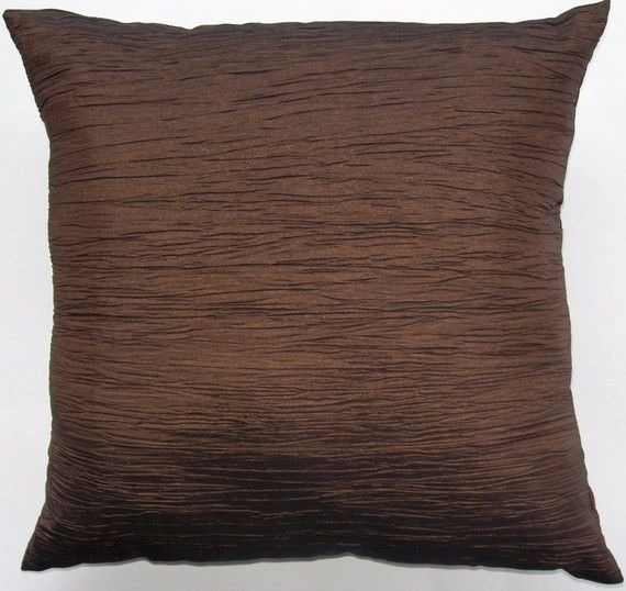 Chocolate Brown Throw Pillow  Brown Crinkle by sassypillows, $19.99