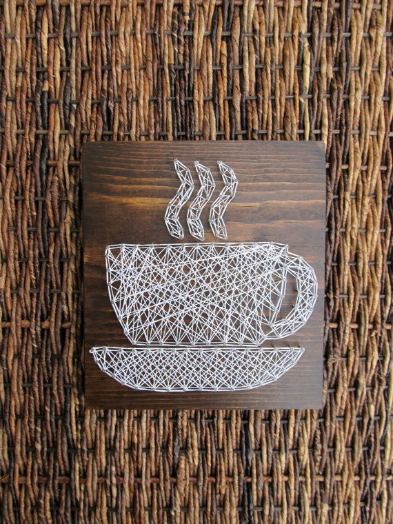 Etsy Custom String Art Cafe Decor Coffee Sign