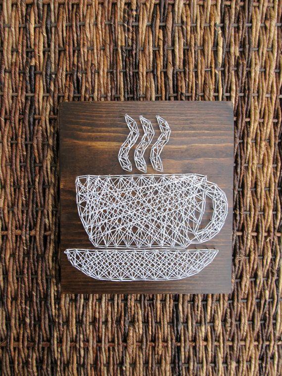Etsy Custom String Art Cafe Decor Coffee Sign