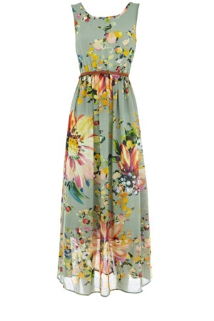 .: Floral Patterns, Sheer Belts, Flowers Dresses, Clothing, Prints Maxi Dresses, Belts Maxi, Sundresses, Sun Dresses, Floral Dresses