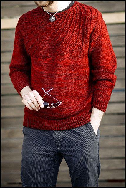 Spiral Yoke Pullover by brooklyntweed, via Flickr #knit