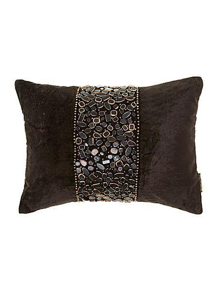 Biba Sultan Black And Gold Beaded Cushion