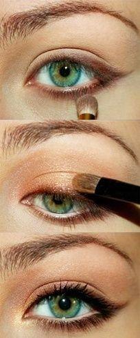 Augen Make-up für einen Karamell-Augen-Look # Augen # Karamell # eins …  #augen #einen #karamell