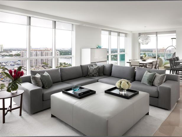 Grey Monochromatic - Eclectic | Living Rooms | Jennifer Duneier : Designer Portfolio : HGTV - Home & Garden Television