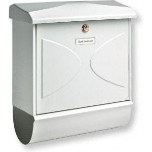 Gezien op Beslist.nl: Burg Wächter Futura-set brievenbus (Farve: hvid)