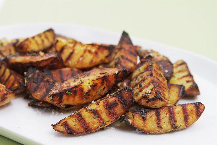 Grilled Potatoes With Rosemary, Garlic And Coarse Sea Salt Recipe on Yummly. @yummly #recipe