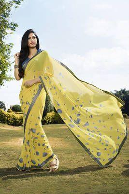Indian Vogue Beautiful Georgette Saree - Indian Vogue Sarees for indian woman