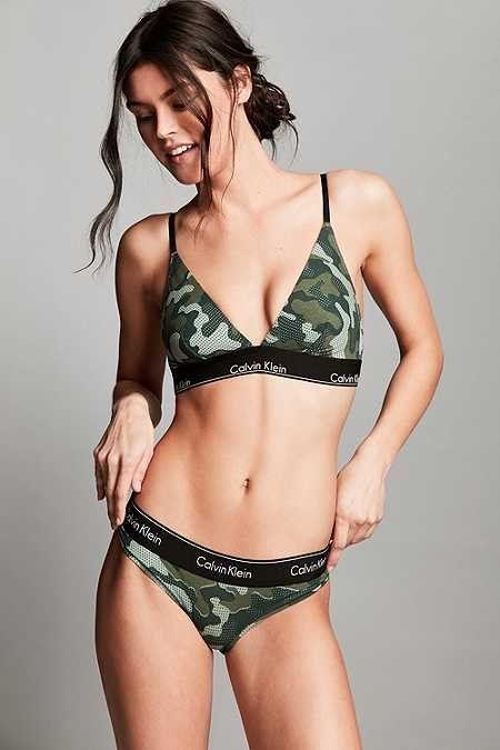 29877247217 Calvin Klein Modern Cotton Camouflage Triangle Bra