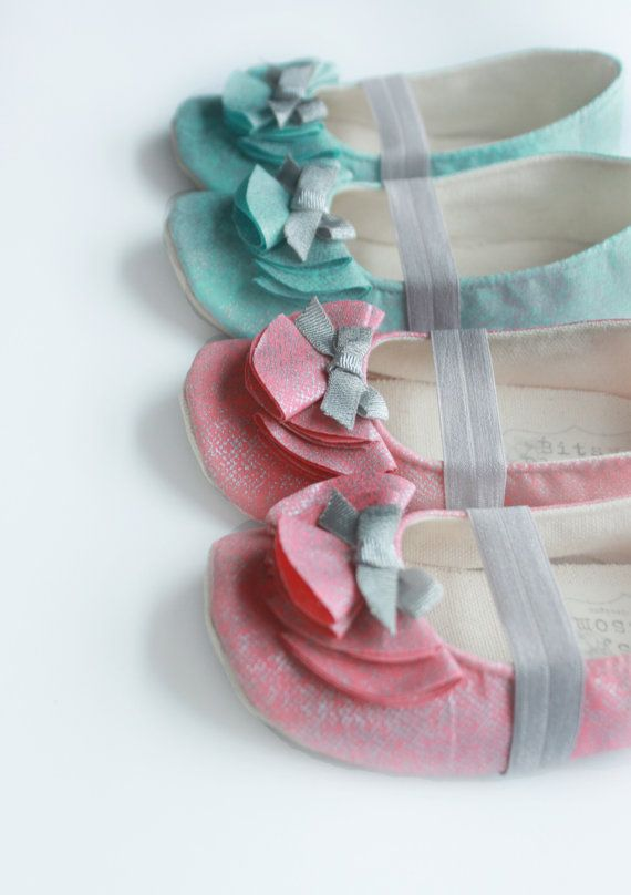 Toddler Girl Shoes Baby Girl Shoes Infant Shoes Soft Sole Shoes Spring Shoes Summer Shoes Teal Shoes Coral Shoes Wedding Shoes- Emma