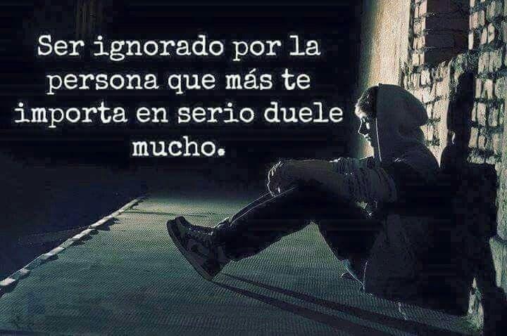 Ser ignorado...