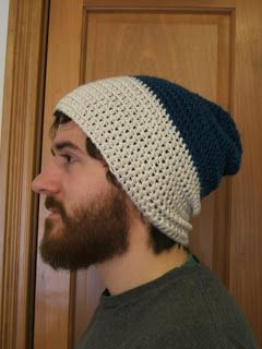 thick yarn how to make a slouchy hat crouche | Slouchy Hat