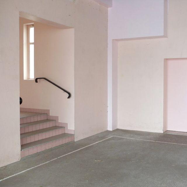 Escalier rose.