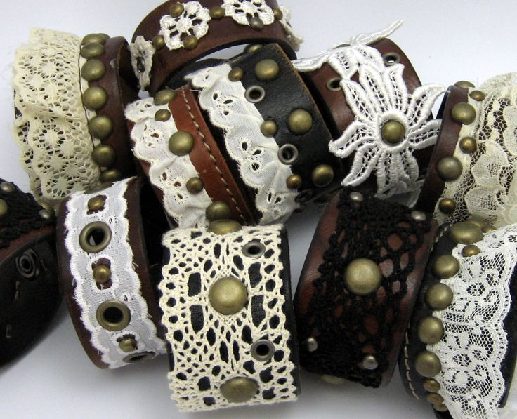 Leather and Lace cuffs.♥