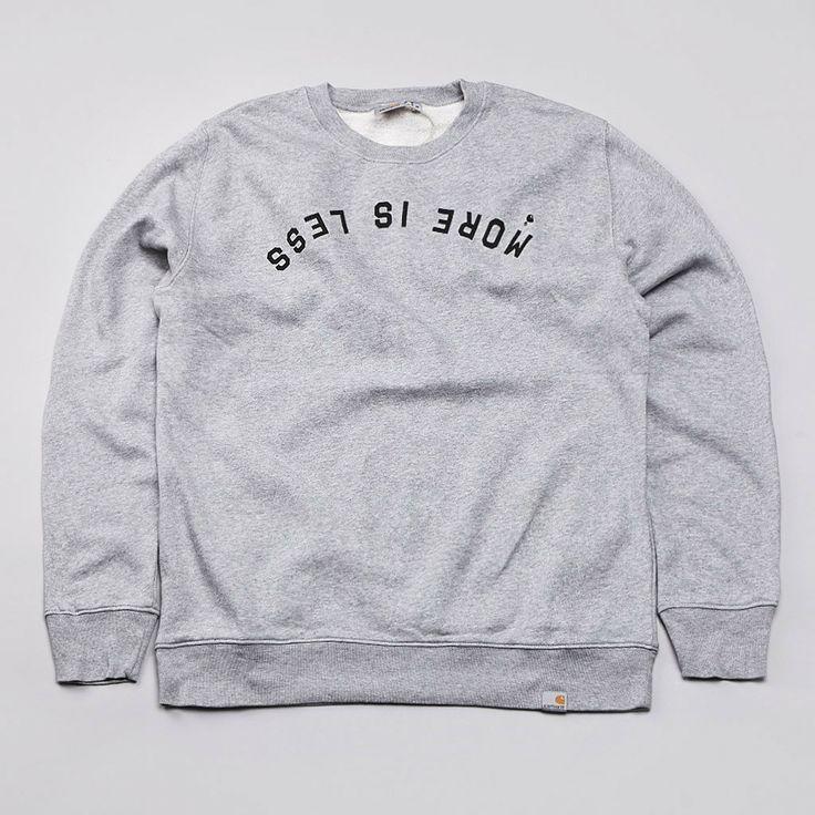 Flatspot - Carhartt Less Is More Crewneck Sweatshirt Grey Heather / Black