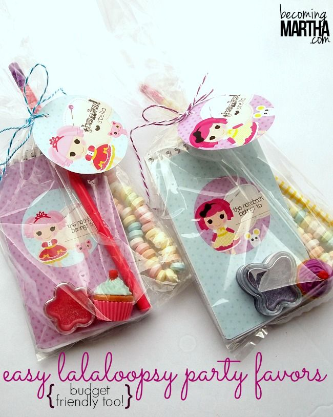 Easy Lalaloopsy Party Favors - For Under $1 Each! PLUS tips and tricks to create budget friendly party favors, no matter what your party theme!
