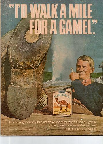 I'd Walk a Mile For a Camel....: Camel Ad, Camel And, Camels, I D Walk, Vintage Ads, Camel Cigarettes, Vintage Cigarette, Vintage Advertising, Vintage Advertisements