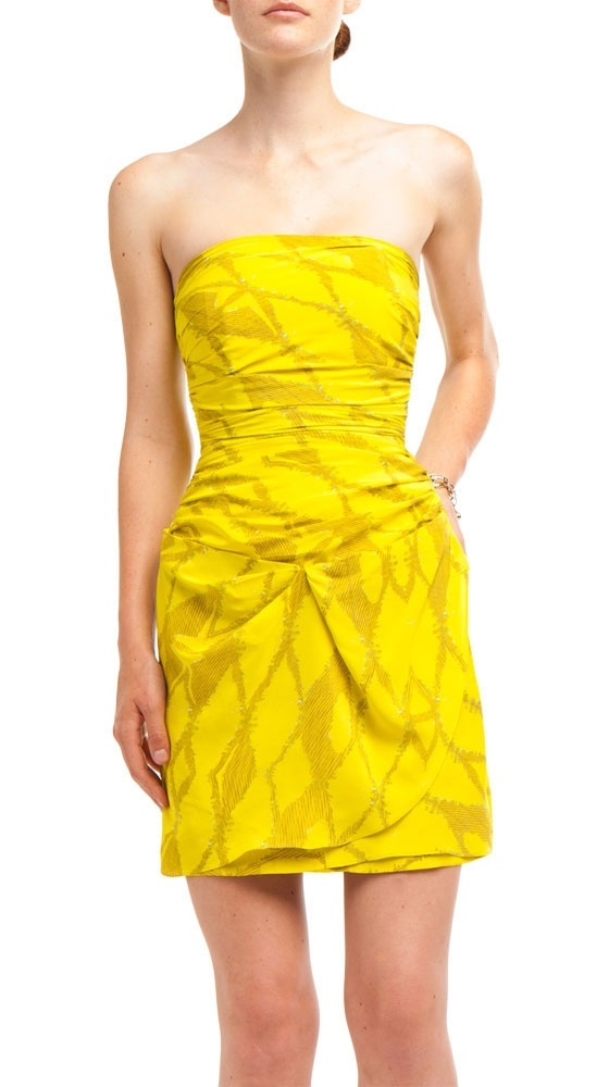 Ruched Mini Dress by Twelfth Street by Cynthia Vincent: Minis Dresses, Ruched Minis, Inten Colors, Colors Styl, Yellow Minis, Intense Colors, Dresses Colors, Bold Colors, Bright Colors