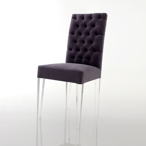 Tight Back Acrylic Leg Dining Chair Materials Acrylic