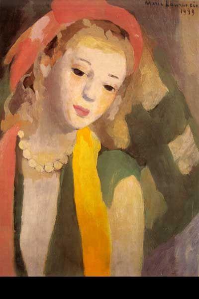 """Marie Laurencin (French, 1883-1956)  """"FEMME AU FOULARD"""""""