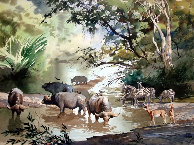 Landscape Art Drawing Water Colors