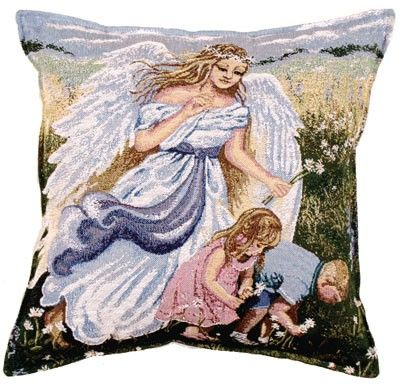 VIGILANT ANGEL Decorative Tapestry Pillow