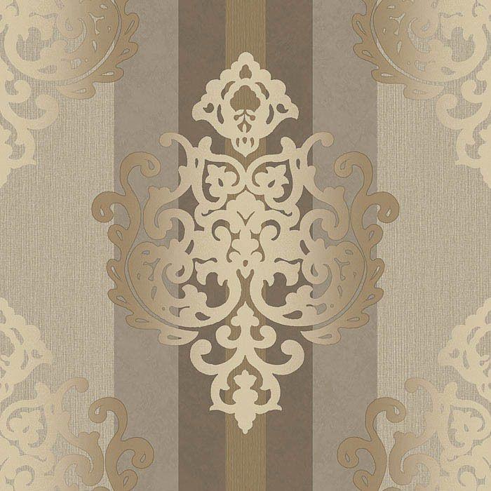 85 Wohnzimmer Tapeten Ideen: Rasch Textil DEHA Vinyl 006422 Beige Braun Ornament