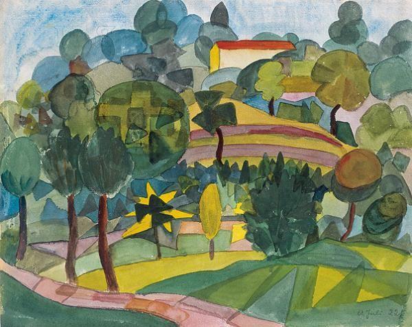 Tessiner Landschaft,1922         © Fondazione Hermann Hesse Montagnola