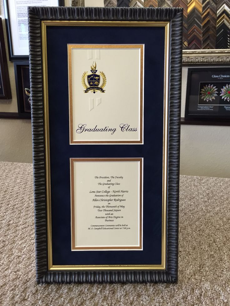 37 best Framing of Degrees, Diplomas, and Graduation Invitations ...